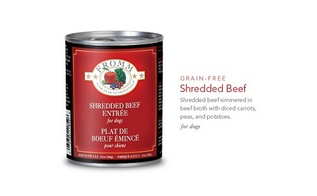 FROMM SHREDDED BEEF ENTREE 13OZ