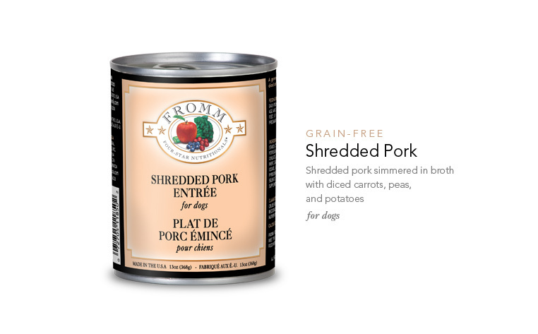 FROMM SHREDDED PORK ENTREE 13OZ