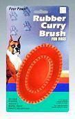 FOUR PAWS RUBBER CURRY BRUSH